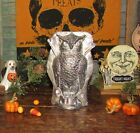 Primitive Antique Vtg Tin Style Halloween Wise Owl Resin Chocolate Candy Mold