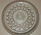 Windsor Clear Glass Plate Federal Button Cane Snack Tray Cake Plate