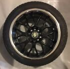 BMW E34 Black Gloss & Crome Wheel / Rim 17 Inch With 225/45R17 Goodyear Tire