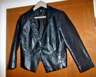 """H&M Faux Leather 80's style cropped Tux Jaclet size 12-14 UK / 40 Eur to fit 36"""""""