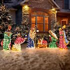 Outdoor Lighted Nativity Set Christmas Holy Family Wisemen 6 Pc Yard Lawn Decor