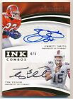 EMMITT SMITH TIM TEBOW 2017 IMMACULATE COLLECTION DUAL AUTOGRAPH SP AUTO #4 5