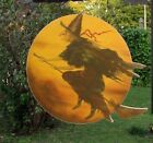 Primitive Antique Vtg Style Halloween Flying Witch Moon Arrow Hanger Replacement