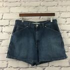 VINTAGE TOMMY HILFIGER Womens SZ 16 Denim High Rise Carpenter Mom Jeans Shorts