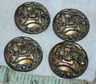 antique metal button gold metal victorian silver filigree cut dress  lot vintage