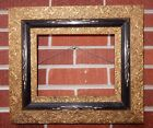 Antique AESTHETIC Victorian GILT Flowers Compo Black Molding Frame 8 x 10 c1870s