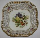 Beautiful Antique Ceramic Fruit Basket Bowl Centerpiece Meissen German European