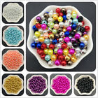 4mm 10mm Acrylic Spacer Beads Round Pearl Spacer Loose Beads For Jewelry Making