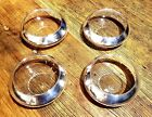 4 mid century DOROTHY THORPE cupped crystal bowls with Sterling bands