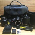 Nikon D3200 242 MP Digital SLR Camera Bundle VR DX AF S Nikkor 18 55 55 200