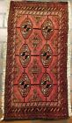 VINTAGE OLD COLLECTIBLE 100% WOOL ESTATE OLD WORLD RUG 1.5X2.8FT C18