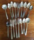 Mixed lot of 16 Silver Plate + 2 stainless Antique Vintage Flatware - Scrap Lot