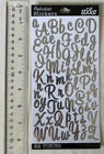 Sticko SWEETHEART SCRIPT SILVER FOIL SM Package of Silver Alphabet Stickers