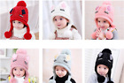 Winter Baby Child Knitted Hat Beanies Cat Ears Wool Solid Earflap Caps 2 TO 6 Y