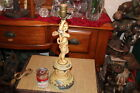 Antique Figural Angel Cherub Table Lamp-Religious Christianity-Metal
