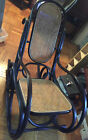 THONET BENTWOOD ROCKING CHAIR RE-CANED, ORIGINAL WOOD