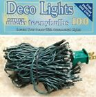SET 100 RICE seed  LIGHTS GREEN CORD for TREE WREATH GARLAND 19.5 feet long -ap