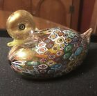 Murano Millefiori Glass Duck Hand Blown Art Glass Lots of Gold 6 x 3