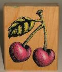 Rubber Stampede Rubber Stamp Cherries Fruit Wood Mount 225 x 275