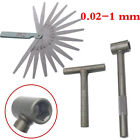 1 Set Motorcycle Engine Valve Screw Adjusting Spanner Tool+Feeler Gauge 0.02-1mm