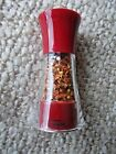 TRUDEAU MAISON RED PEPPER FLAKES MILL GRINDER NIB 5 HIGH RED W CLEAR PLASTIC