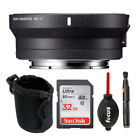 Sigma MC 11 Lens Mount Converter Canon EF to Sony E Mount with 32GB SD Card