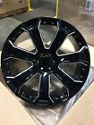4 NEW 2015 GMC Sierra Wheels 26x10 Black  Milled OE 26 Silverado Denali