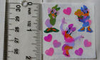 Sandylion OPAL DAISY DUCK  HEARTS 1 Square Vintage Stickers RETIRED VERY RARE