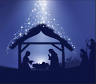 Nativity Scene Garage Door Banner Holy Night Outdoor Christmas Decor GD219s