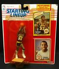 1990 Magic Johnson Kenner Starting Lineup Rookie Year Card NOS L A Lakers