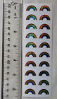 Mrs Grossman RAINBOW SMALL Strip of Small Sparkle Rainbows Stickers
