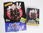 Vintage Ghostbusters II 1989 36-pack box of cards and stickers w display poster