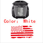 5190CM White USA Flag Style Car Truck Jeep Hood Window Graphics Decal Sticker