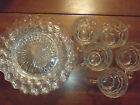 10 Piece Indiana Glass Whitehall Clear Luncheon Salad Snack Plates