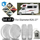 4 Set Wheel Tire Covers For RV Trailer Camper Motor Home Truck 26 27'' Protector