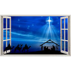 Wall Stickers Christmas Nativity Scene Star Bedroom Girls Boys Living Room C721