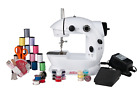 Sunbeam Mini Portable Sewing Machine AC Adapter Foot Pedal And Over 75 Piece