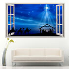 Wall Stickers Christmas Nativity Scene Star Vinyl Bedroom Girls Boys Kids C721