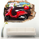 Wall Stickers Moped Motorcycle Cool Bike Bedroom Girls Boys Room Kids G102