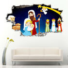 Wall Stickers Nativity Christmas Star Angel Bedroom Girls Boys Living Kids G995