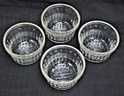 Hazel Atlas Ribbed Jelly Jars Clear Grapes Set Of 4