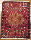 GALLERY VINTAGE OLD COLLECTIBLE 100% WOOL ESTATE WORLD RUG 2.3X3.2FT G5