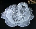 Vtg/Indiana Glass/Pebble Leaf/Twiggy/Clear/Nappy Bowl/Tid Bit/Serving Dish/ 2