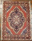 GALLERY VINTAGE OLD COLLECTIBLE 100% WOOL ESTATE WORLD RUG 2X2.10FT G11