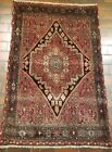 GALLERY VINTAGE OLD COLLECTIBLE 100% WOOL ESTATE WORLD RUG 3.2X4.10FT G24