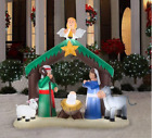Inflatable Nativity Scene Christmas Airblown Manger Yard Decoration Light Holy