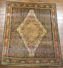 GALLERY VINTAGE OLD COLLECTIBLE 100% WOOL ESTATE WORLD RUG 4x4.9ft G31