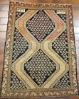 GALLERY VINTAGE OLD COLLECTIBLE 100% WOOL ESTATE WORLD RUG 3.1x4.4ft G37