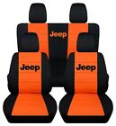 Fit Jeep Wrangler Jl 2dr 4 Dr  2018 - On Front Rear Seat Covers With Design