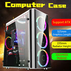 For ATX USB 30 Gaming Computer Case Cover Side Translucent 5 Fans Chassis